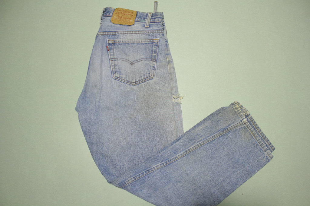 Levis Button Fly 501xx Vintage 80's 90's Distressed Grunge Punk Denim Jeans