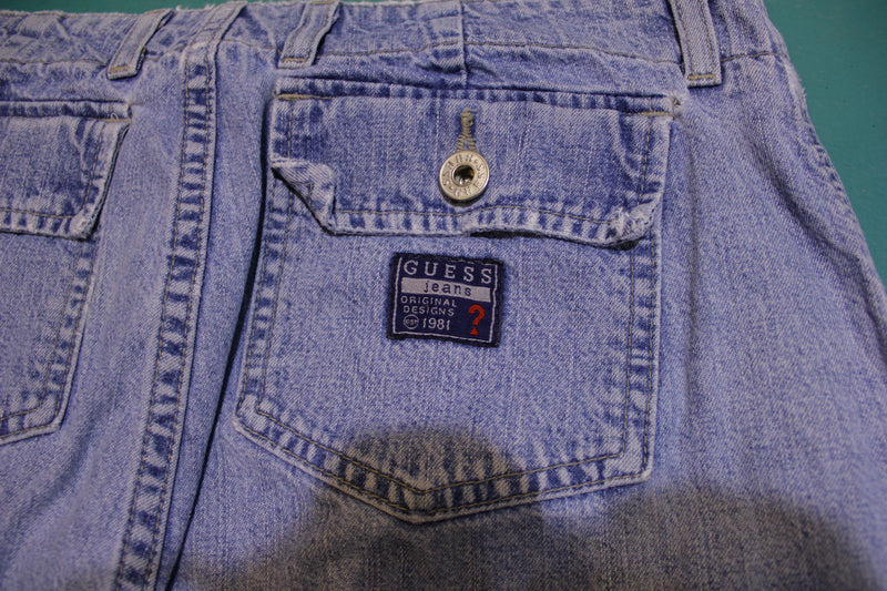 Guess Jeans Original Designs 1981 Vintage 80's Stone Washed Jeans Made in USA