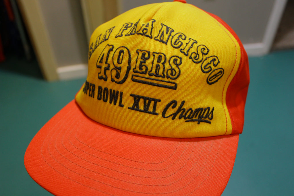 San Francisco 49ers 1981 Super Bowl XVI 16 Vintage Snapback Trucker Cap Football Hat