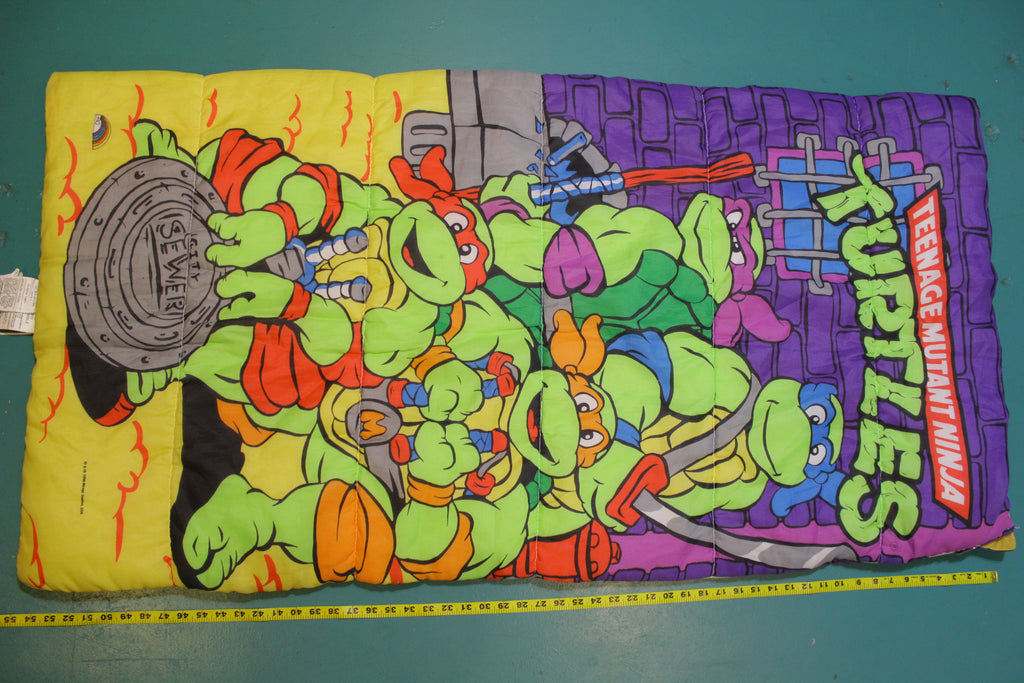 Teenage Mutant Ninja Turtles 1990 Vintage TMNT Cartoon Kids Sleeping Bag Mirage