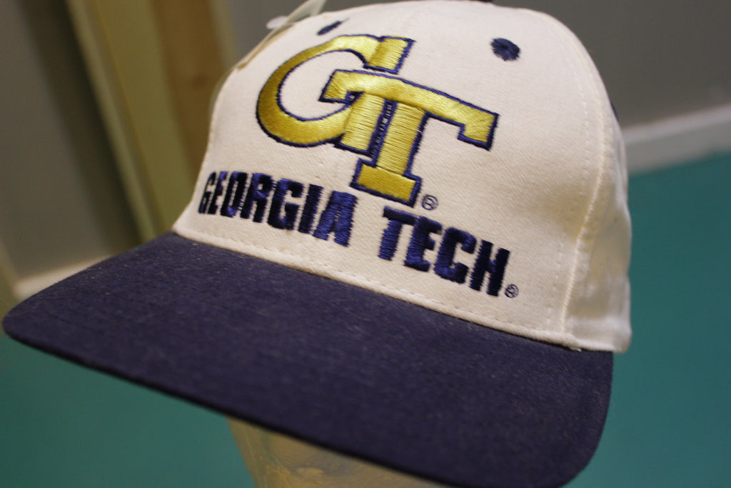 Georgia Tech Yellow Jackets Russell Athletic 90's Vintage Snapback Trucker Cap Starter Hat