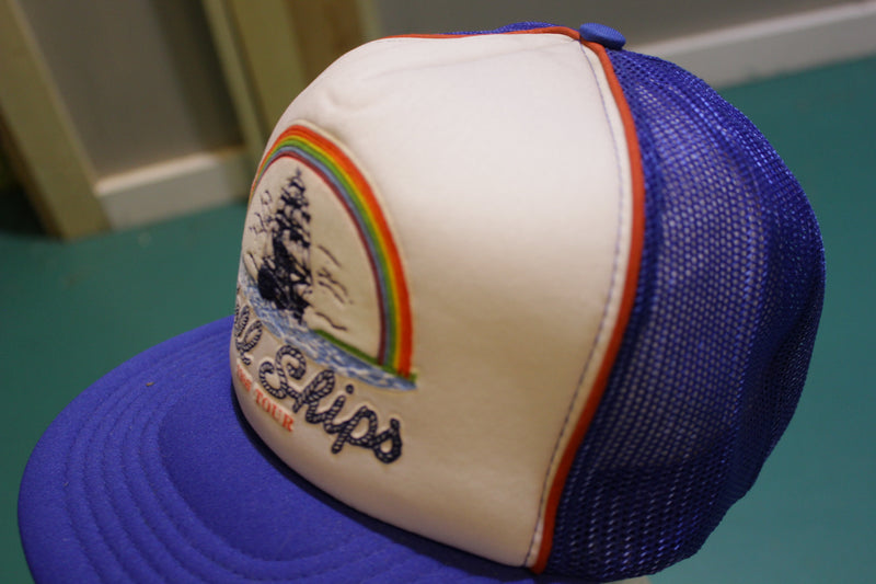Tall Ships 1986 Tour Sailboat Authentic 80's Vintage Snapback Trucker Cap Starter Hat