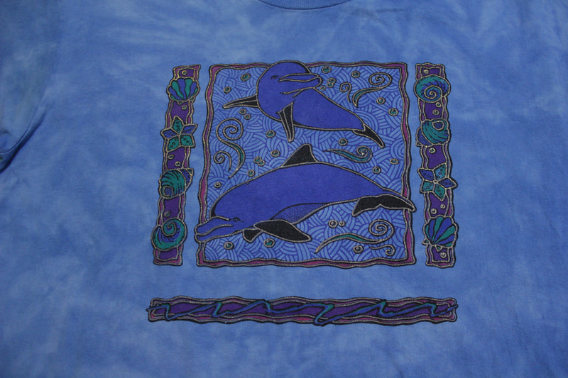 Dolphin King Fish Tie Dye 90's Single Stitch Blue Vintage Oceanic T-Shirt