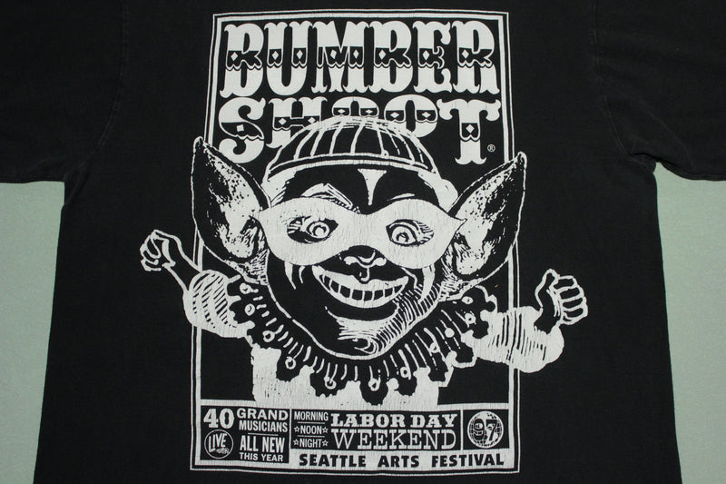 Bumbershoot 1997 Black Vintage Sonic Youth Beck Foo Fighters Vintage T-Shirt