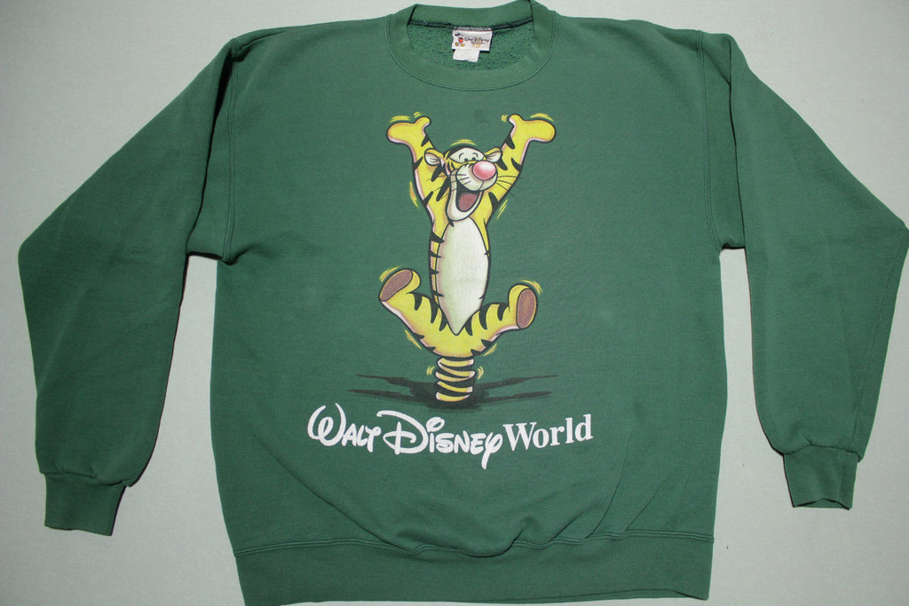 Walt Disney World 90's Vintage Bouncing Tigger Made in USA Crewneck Sweatshirt