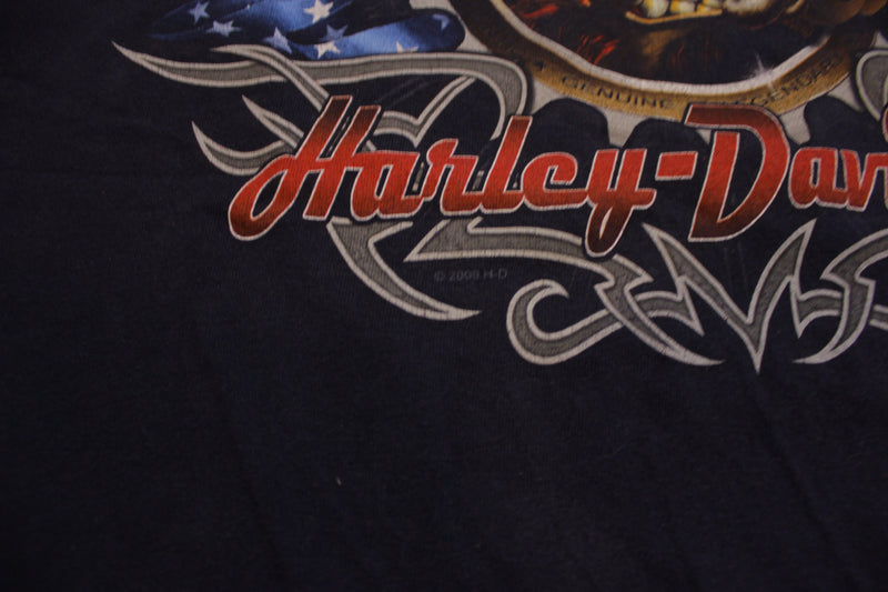 Harley Davidson Hog Live To Ride Made In USA Red River Motorcycle T-Shirt