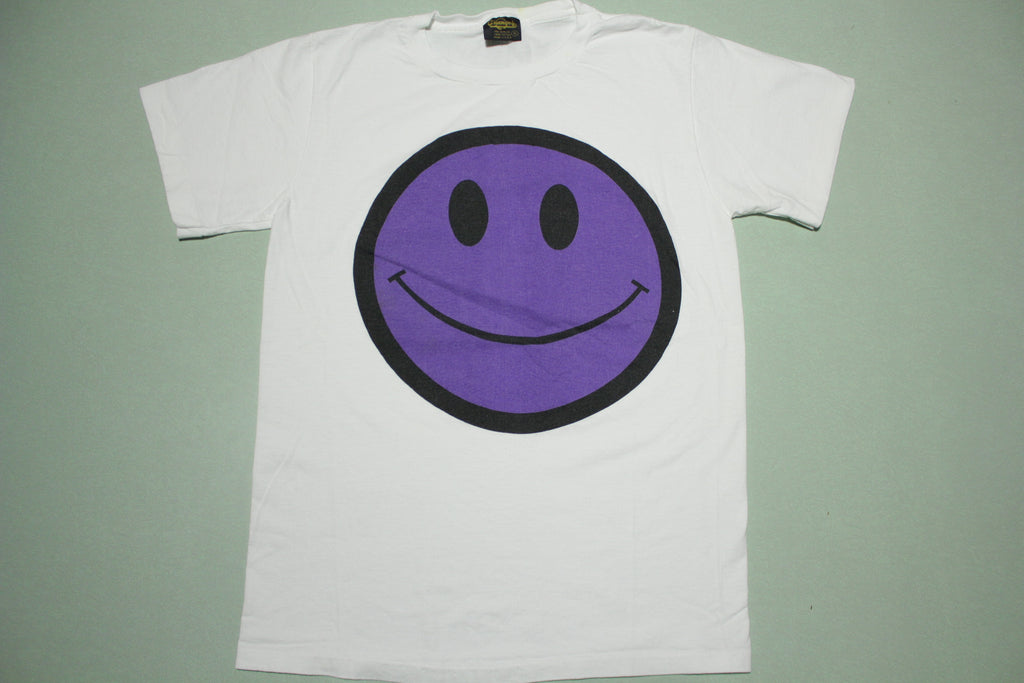 Purple Smiley Face Mr. Ycck Poison Sticker Vintage 90's Changes USA T-Shirt