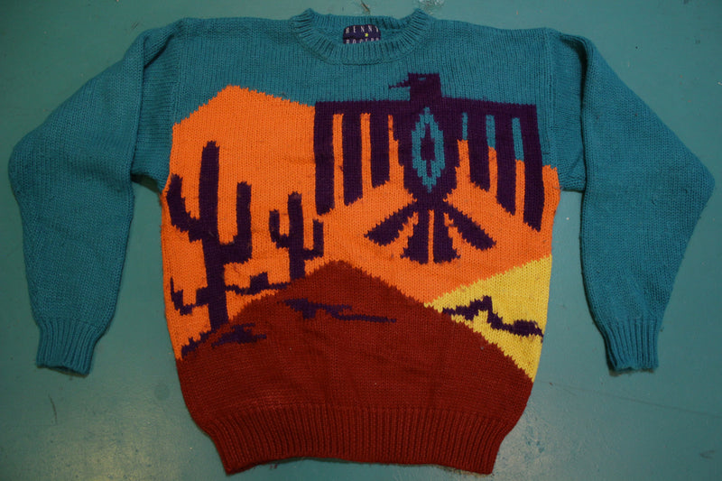 Kenny Rogers Vintage Phoenix Bird Bright Colorful Sweater Millers Harness West