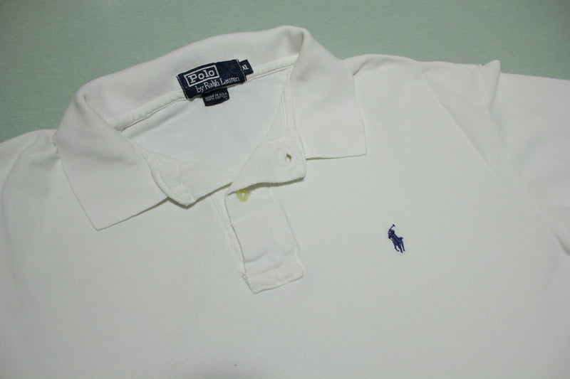 Ralph Lauren Cocaine Bright White Vintage USA Made Polo Shirt