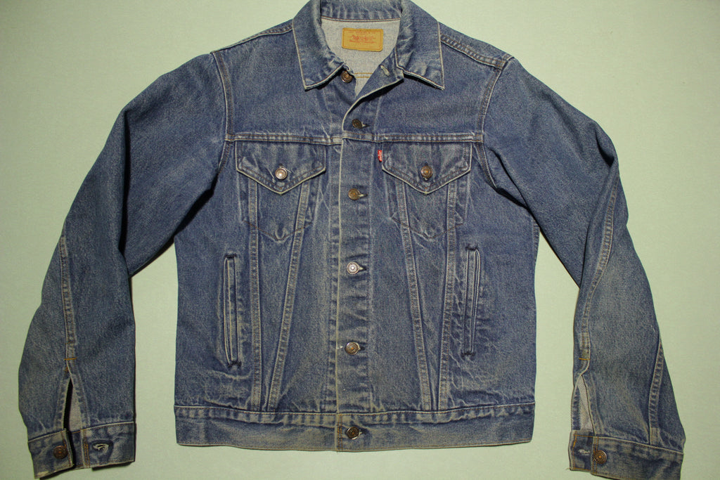 Levis 21506-0217 Made in USA 80's Vintage Denim Faded Jean Trucker Jacket