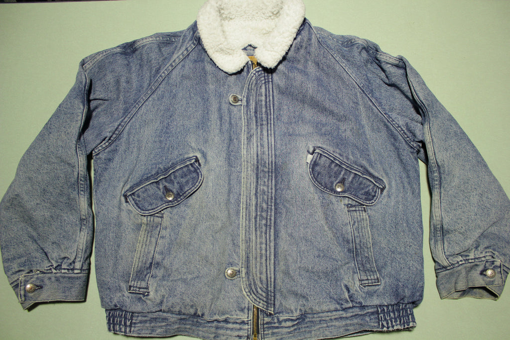 Levis 75409-4817 Vintage 80's USA Made Sherpa Lined Stone Washed Jean Jacket