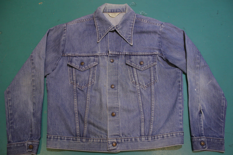 JC Penney Vintage 70's Denim Snap Trucker Jean Jacket