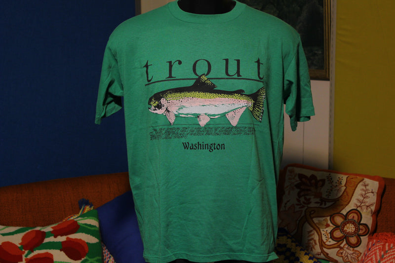 80's Washington Rainbow Trout Fishing Shirt.