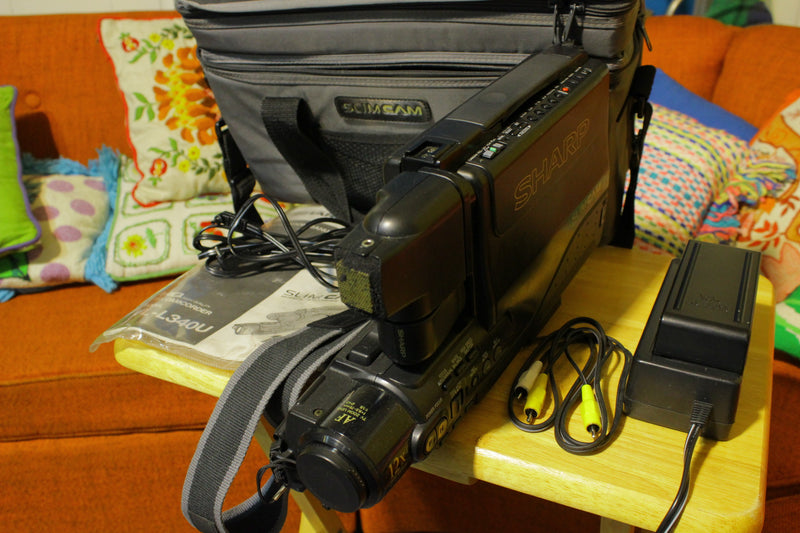 Sharp VL-L340U VHS Camcorder Slim Cam case parts charger battery manual UNTESTED