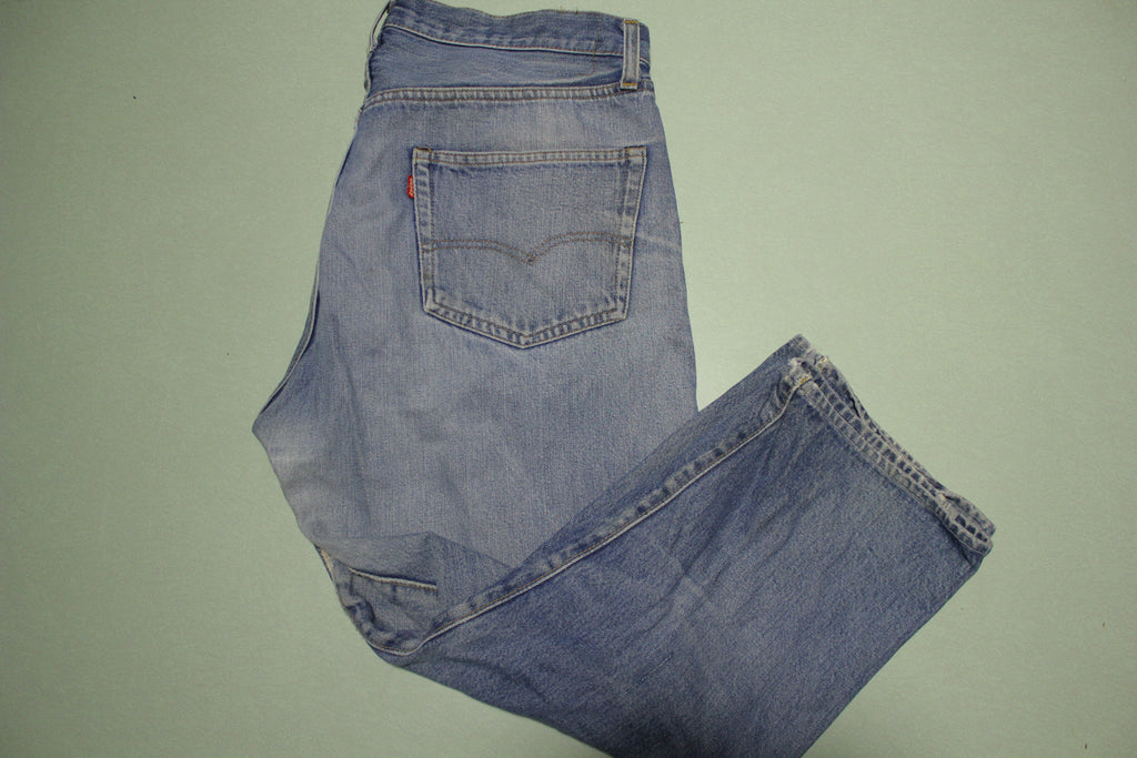 "Levis 501 Selvedge Black Bar Tack #6 Stamp Vintage Redline Denim ""altered"" Blue Jeans"