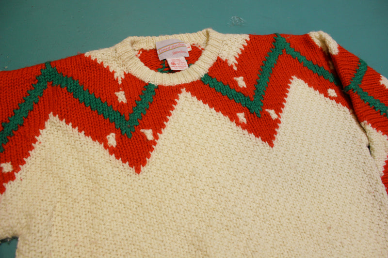 Neiman Marcus Wool Competitive Edge Christmas-y Knit Sweater