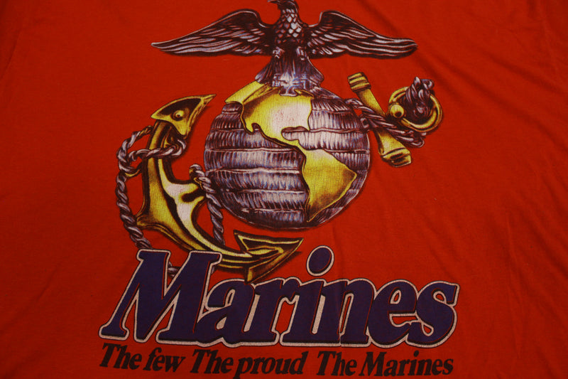 Marines 1993 Rothco The Few The Proud Single Stitch Vintage 90's T-Shirt.