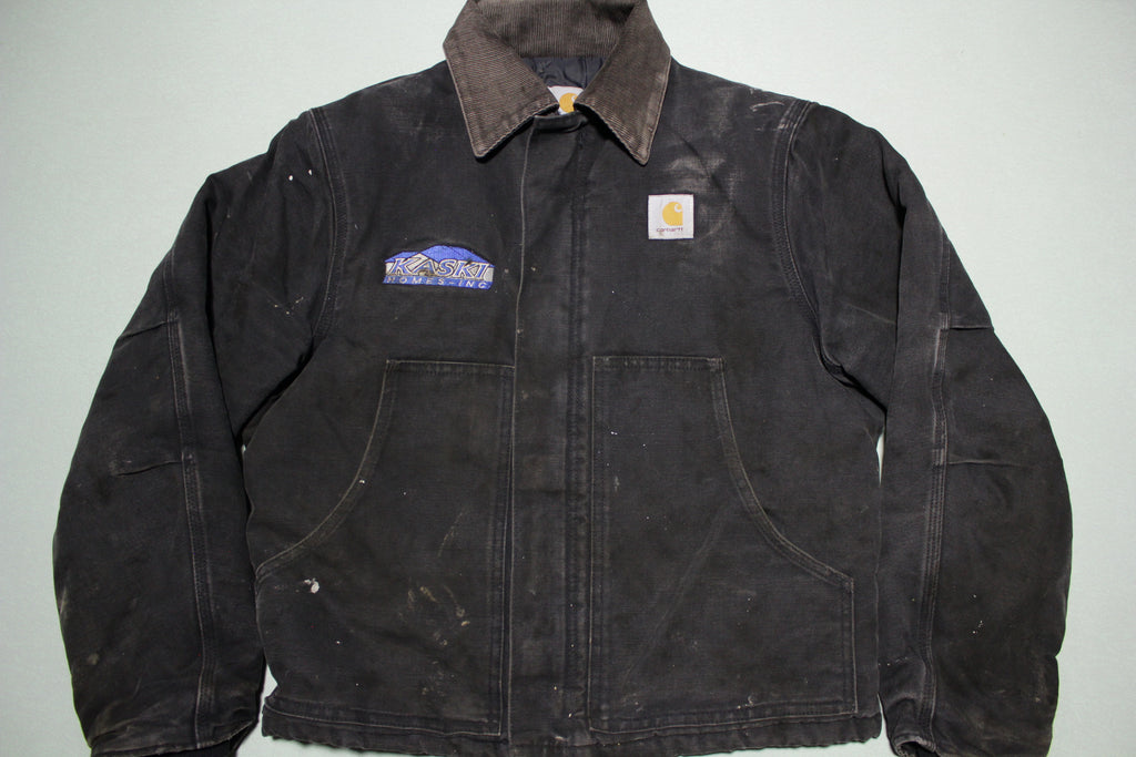 Carhartt J002 BLK Arctic Quilt Lined Duck Canvas Traditional Work Jacket