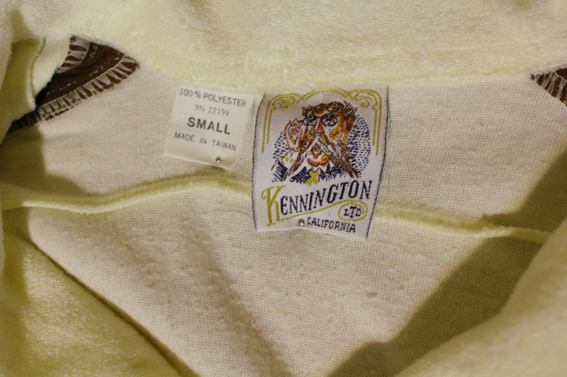Kennington California Terry Cloth Vintage 1970's Authentic Polo Surfer 2 Button Beach Shirt