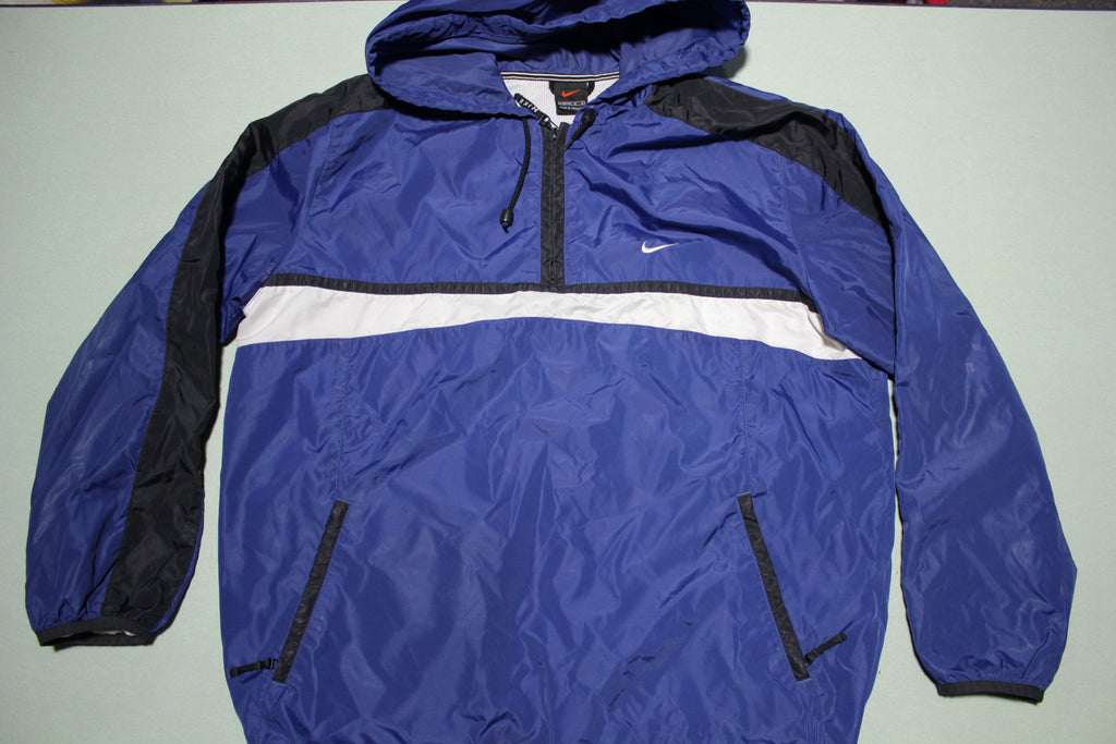 Nike Pullover Windbreaker Color Block 90's Embroidered Swoosh Check Jacket