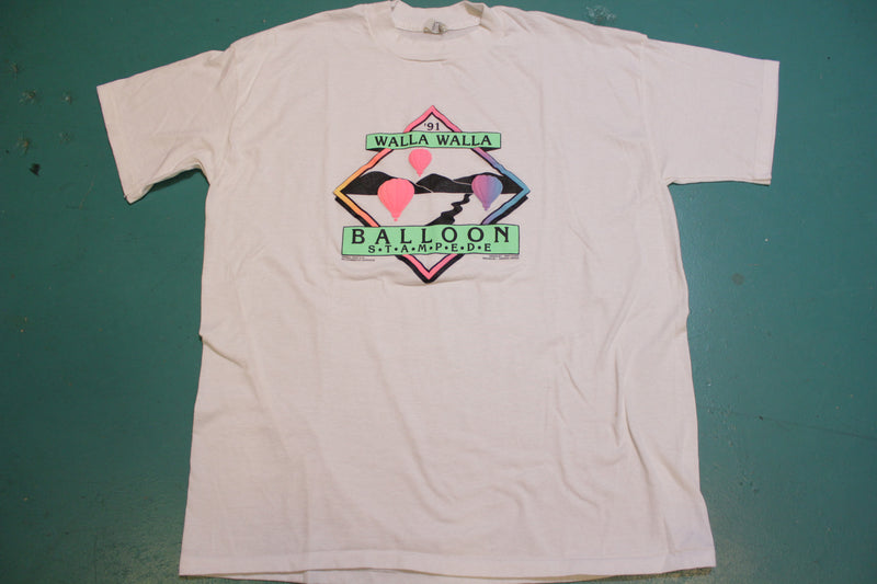 Walla Walla 1991 Balloon Stampede Vintage Single Stitch USA 90's T-Shirt