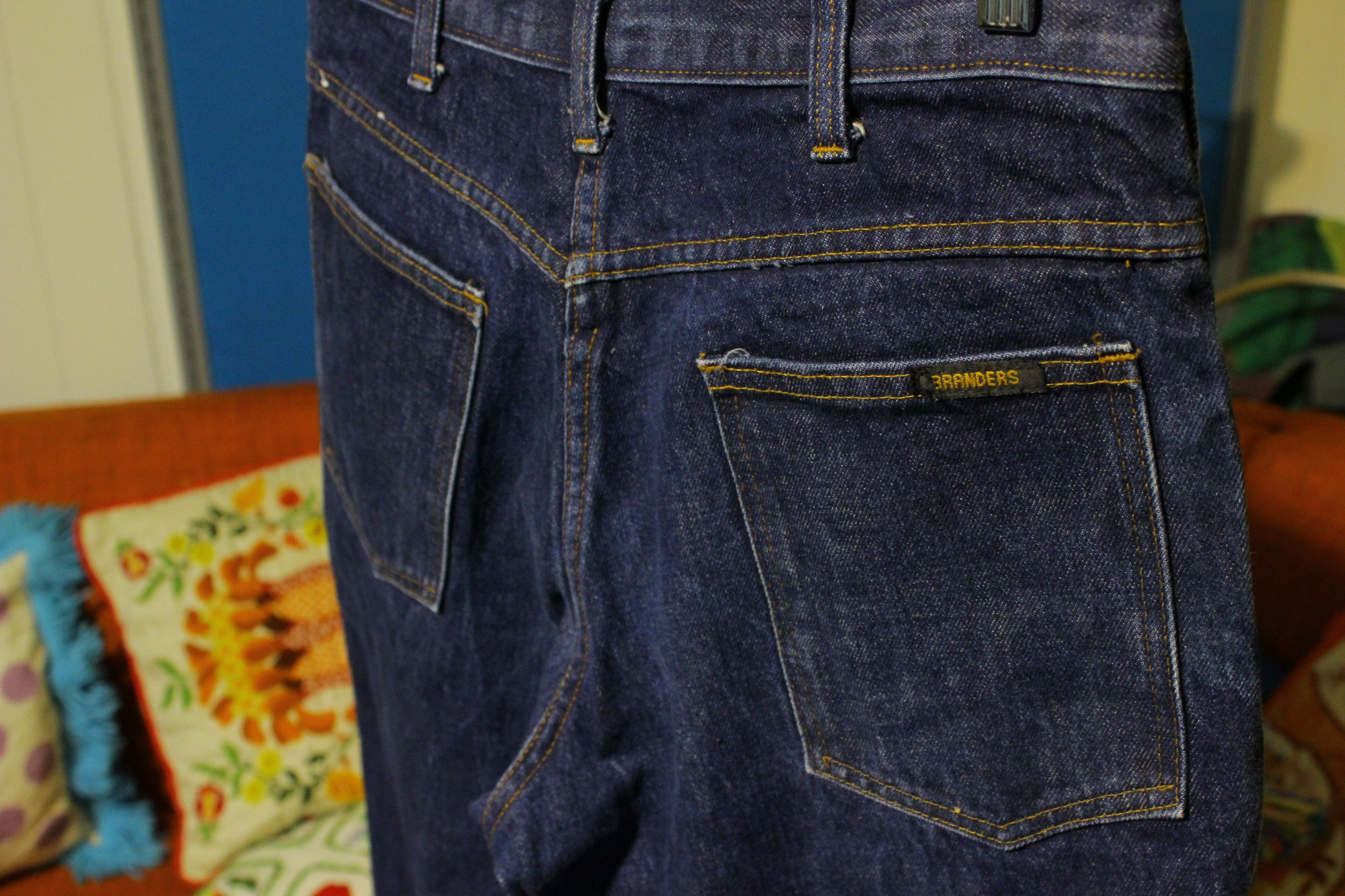 Branders Made in USA Jeans. Vintage and broke in.