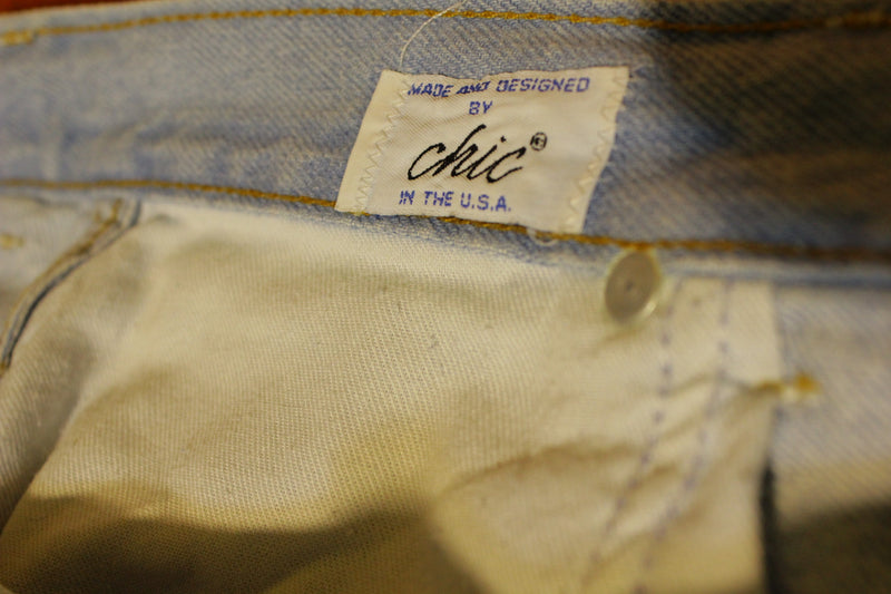 Chic Vintage 90's 80's High Waisted Acid Washed Jeans.