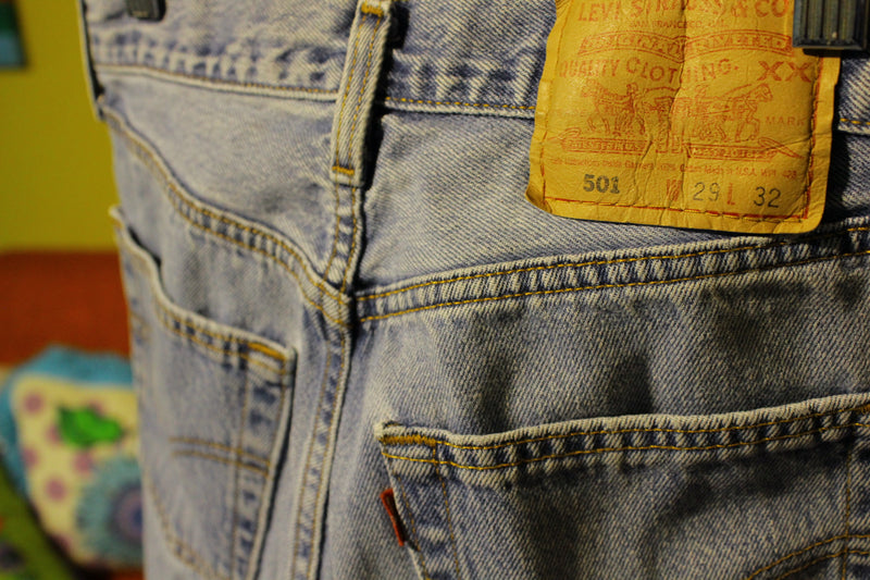 Red Tab 501 Button Fly Vintage Women's Levis. 1980's Made in USA