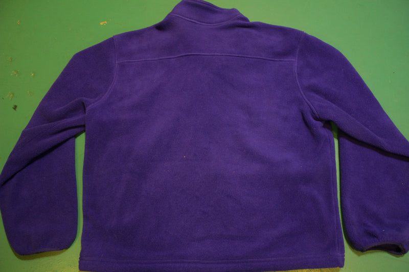 LL Bean Made in USA Purple Freeport Maine Men's Medium Fleece Jacket