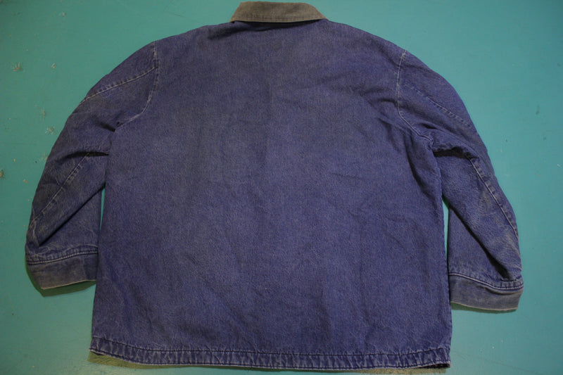 Big Ben RARE Two Pocket Vintage USA Made Corduroy Collar Work Chore Jean Jacket