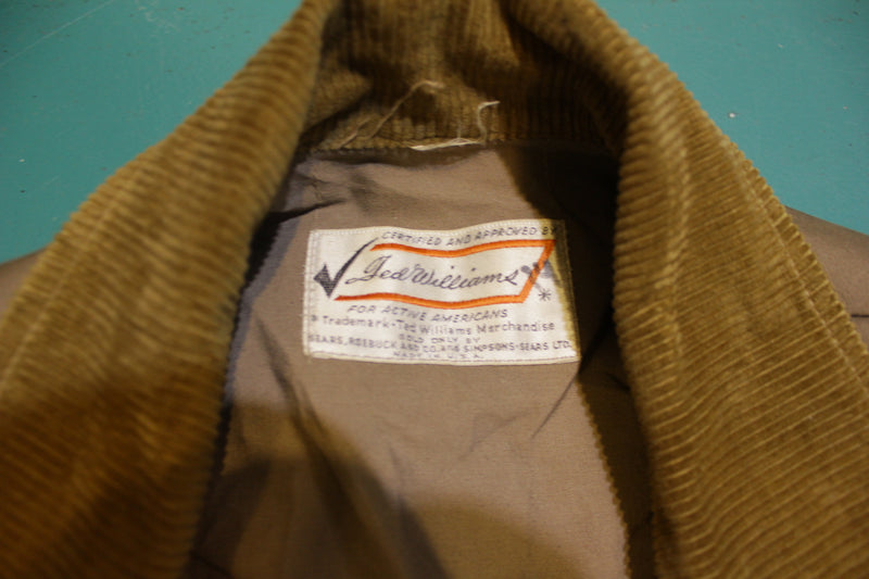 Ted Williams Vintage 50's or 60's Sears Upland Bird Hunting Shooting Jacket Coat