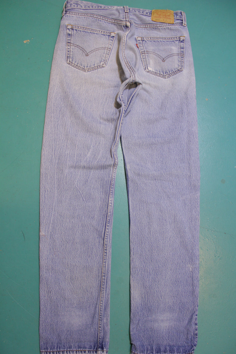 90s Levis 501 Button Fly Jeans. Vintage Grunge Punk Made in USA 501xx 32 x 36
