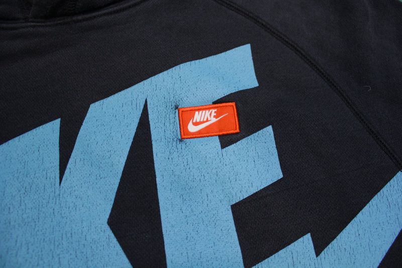 Nike Vintage Small Box Logo Big Swoosh Red Tag Hoodie Sweatshirt
