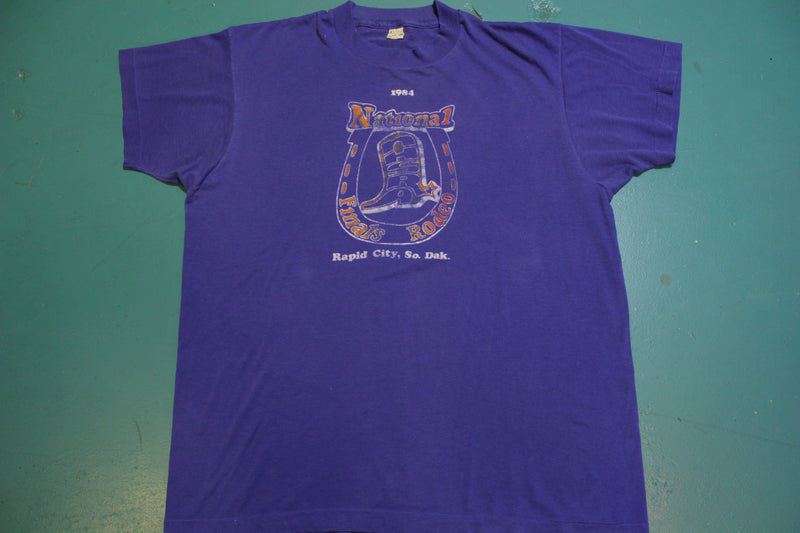 National Rodeo Finals 1984 Rapid City South Dakota Vintage Single Stitch T-Shirt
