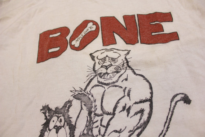 Bone The Dawgs Apple Cup 1985 80's Huskies WSU Vintage Single Stitch T-Shirt