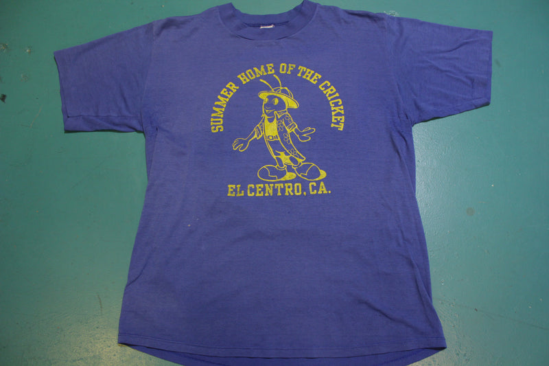 El Centro California Summer Home of the Cricket Vintage 80's Single Stitch T-Shirt
