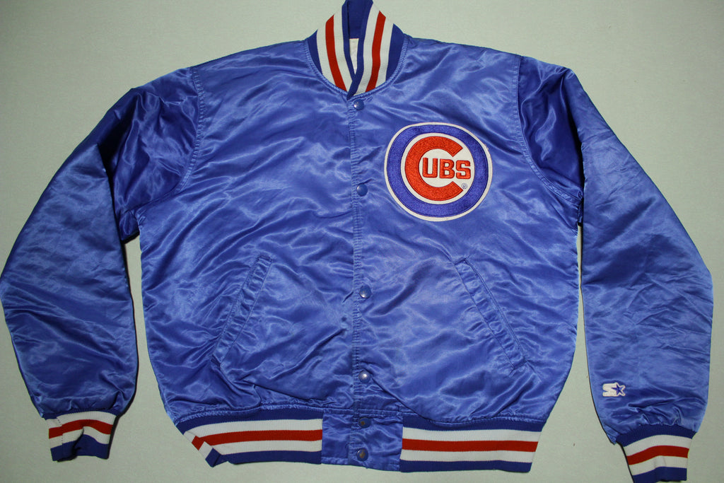 Chicago Cubs Diamond Collection Vintage 80s Made in USA Satin Starter Jacket