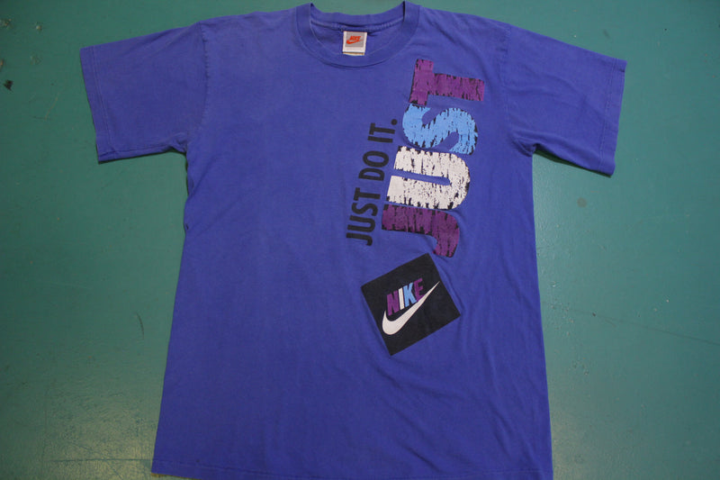 Nike Just Do It Vintage Single Stitch Gray Tag 80's 90's Double Sided T-Shirt