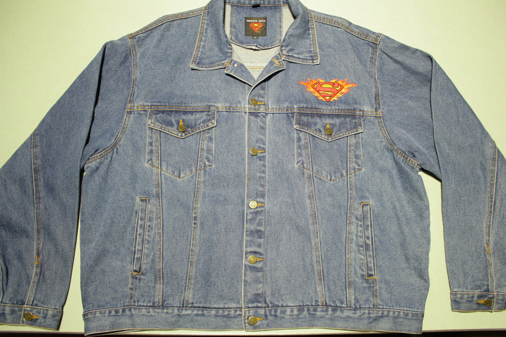 Superman Warner Bros. Vintage 90's Denim Trucker Jean Jacket