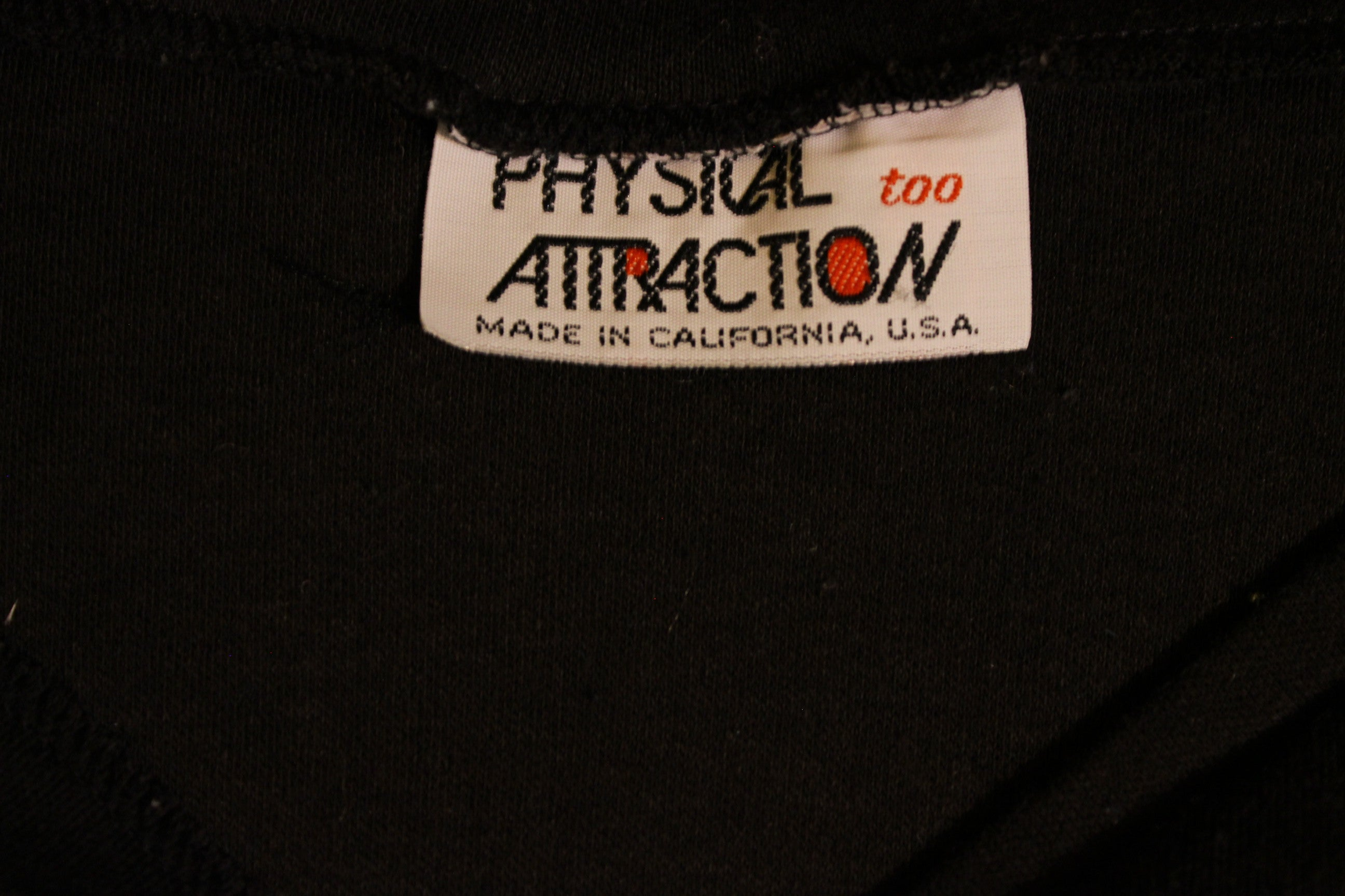 Physical Attraction Too 1980's 1970's Vintage Black Sleevless Summer Shirt.