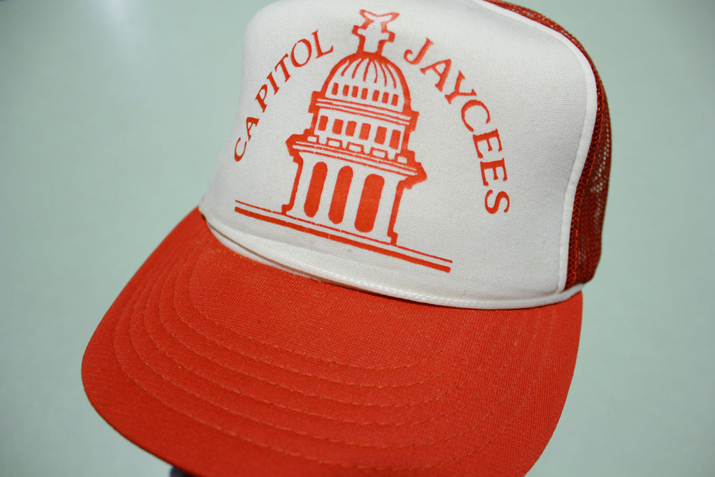 Capitol Jaycees Vintage 80's Adjustable Back Snapback Hat