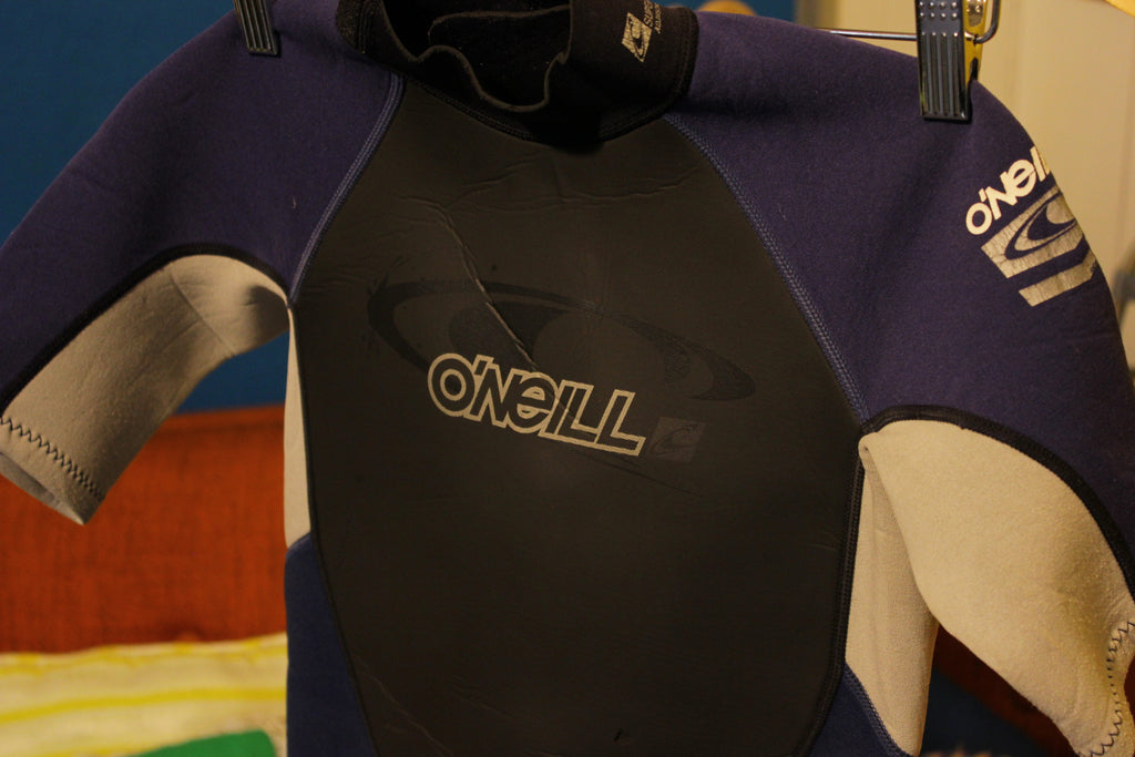 O'Neill Youth Spring Suit Size 14 Kids Wetsuit 2mm Used But Good Reactor Shorty.
