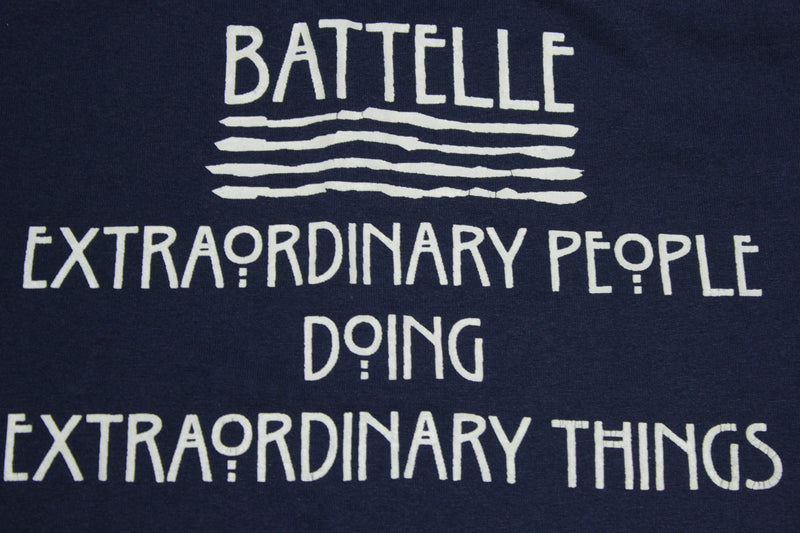 Battelle Extraordinary People Vintage 90's FOTL Single Stitch T-Shirt