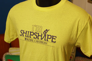 I'm Shipshape Royal Caribbean Vintage 80's T-Shirt. Hanes Poly-Cotton Thin.