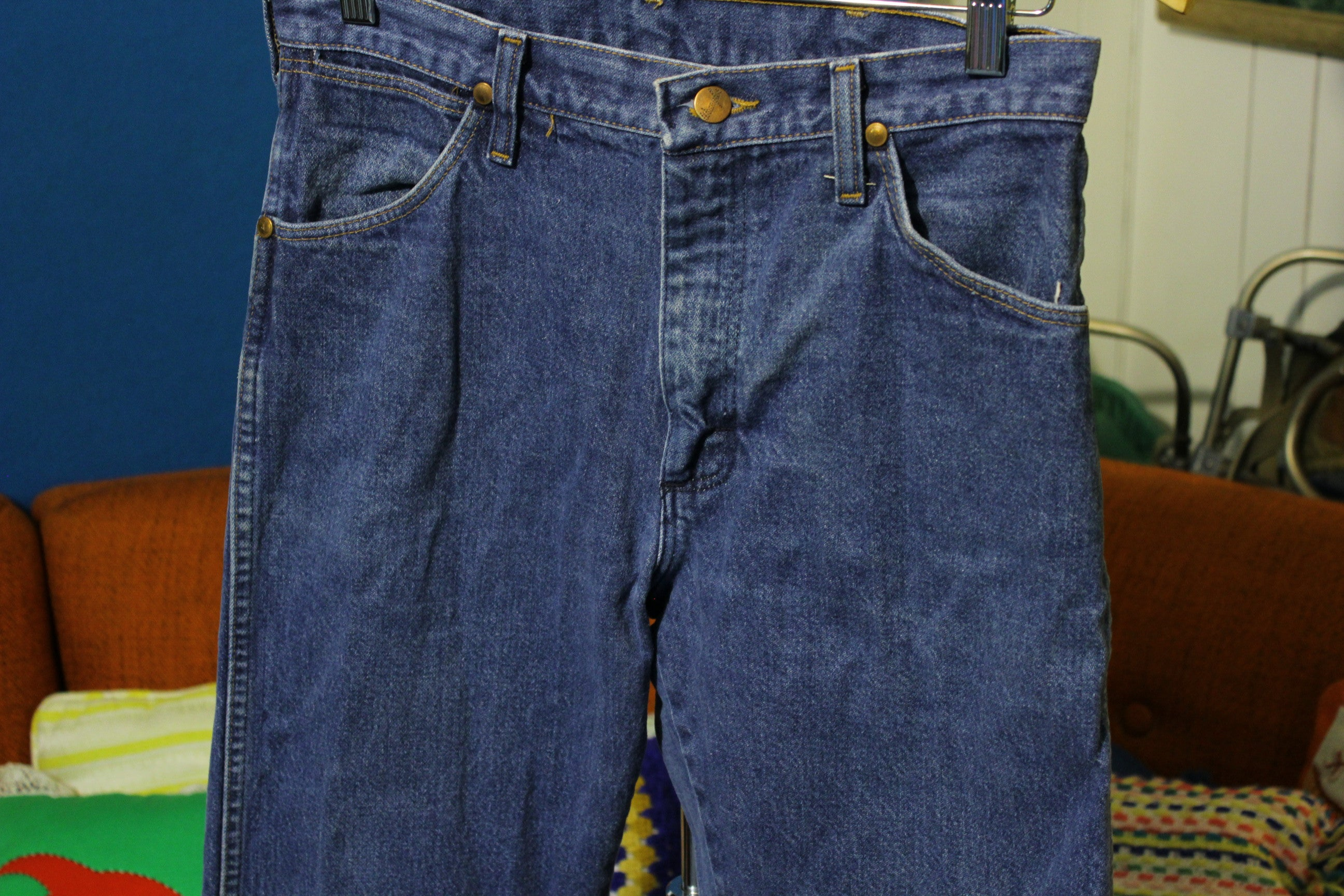80s Wrangler Jeans Denim Made in USA 13MWZ Cowboy Cut