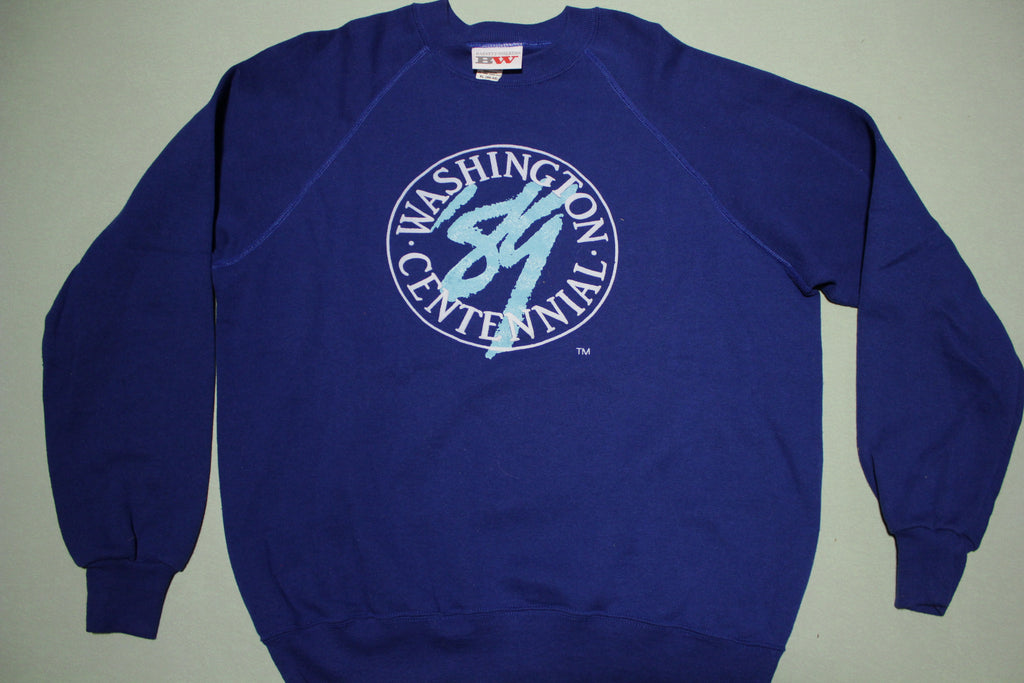 Washington Centennial 1989 Vintage 80's Deadstock Crewneck Sweatshirt