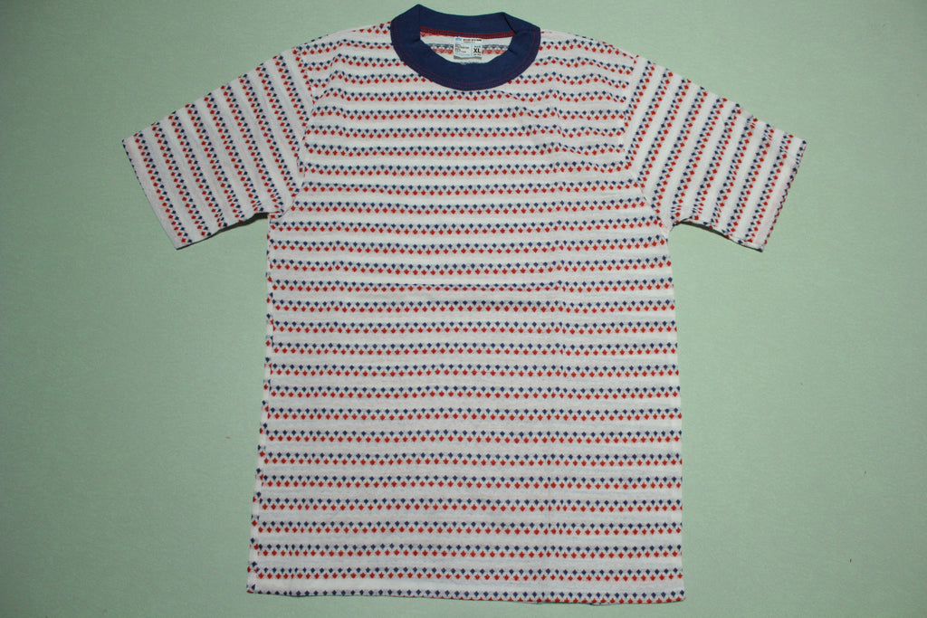 JCPenneys Vintage Striped 70's Deadstock Brady Bunch Single Stitch T-Shirt