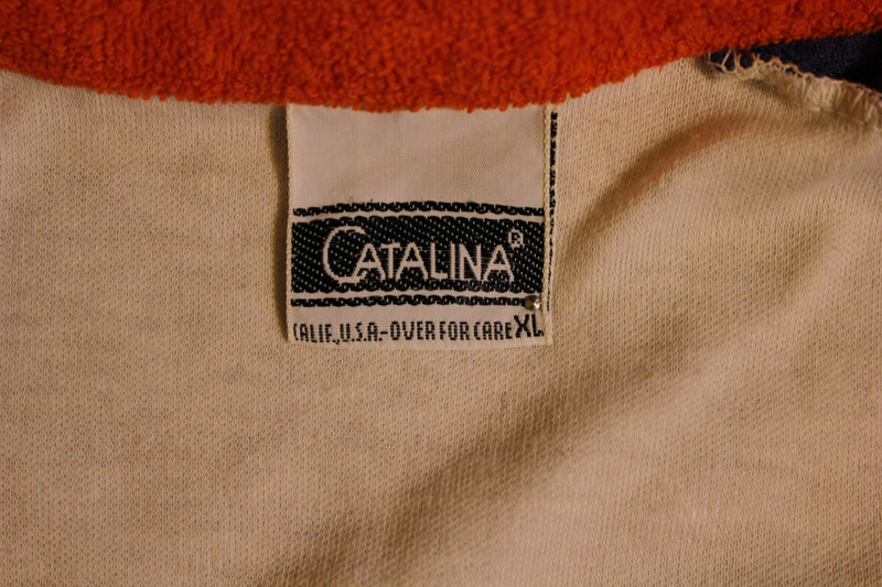 Catalina Vintage 1980's Women's Terry Cloth Polo Shirt OMG!