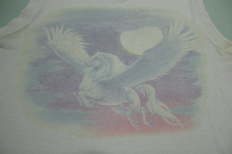 Pegasus Winged Horse Moonlight Vintage 80's Muscle T-Shirt