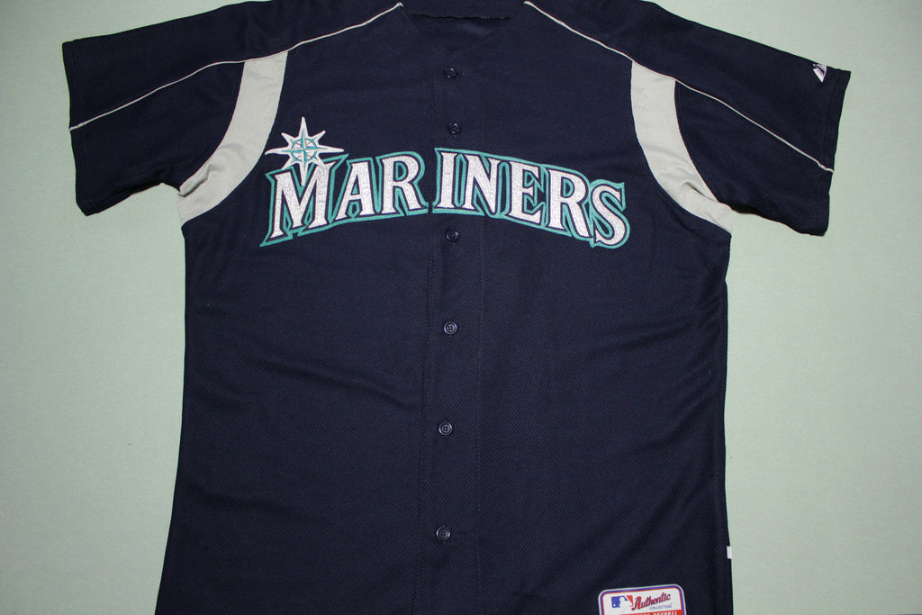 Dan Wilson Vintage Seattle Mariners 6 Majestic Authentic Collection Baseball Jersey